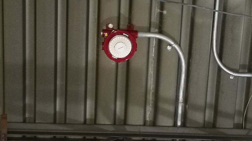 Spot Type Smoke Detectors Located On The Ceiling Fire Alarms Certified
