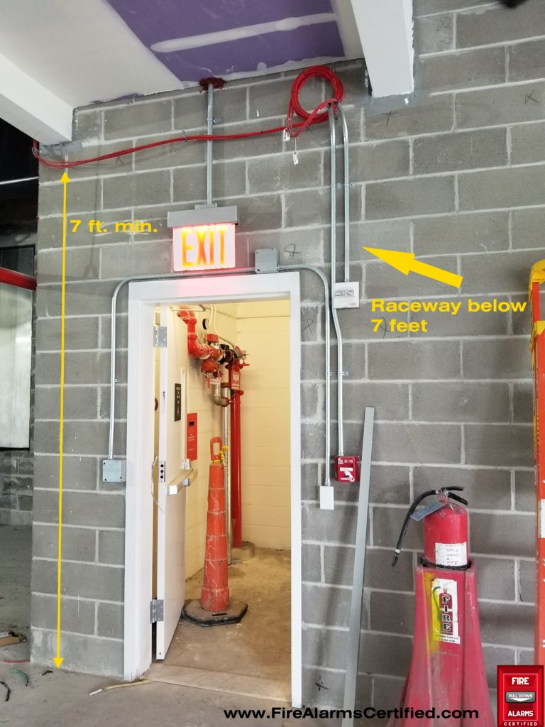 Height Requirements For Fire Alarm Cables Plfa Fire